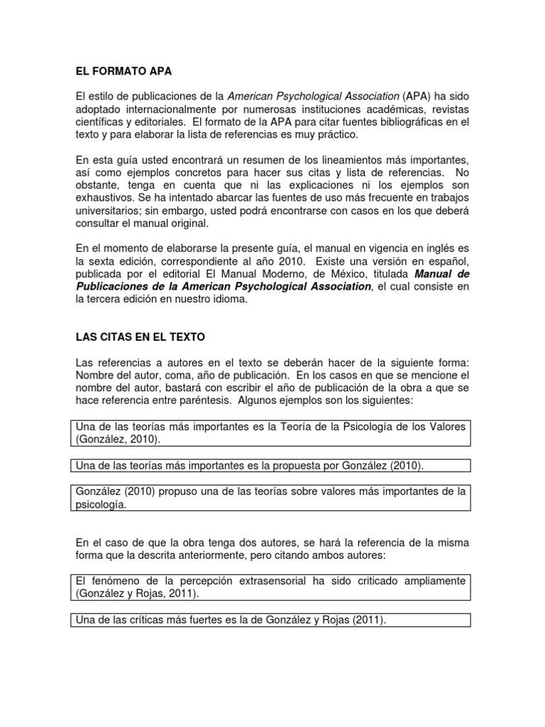 Excelente Resume El Formato De Lista De Referencias Imagen - Ejemplo ...