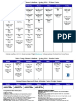 Spring 2014 Group Fitness Schedule PDF