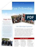 The Work First Fellowship- January Newsletter