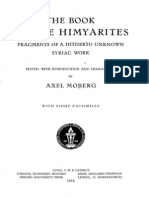 Axel Moberg the Book of the Himyarites. Fragments of a Hitherto Unknown Syriac Work Edited, With Introduction and Translation 1924