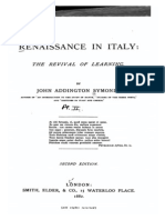 Renaissance in Italy - The Revival of Learning - Symonds (1882)