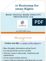 Twitter Bootcamps Human Rights - introduction