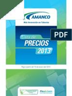 Lista de Precios Amanco 2013-Nicaragua