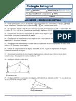 LISTA DESAFIO ANGULOS, SEGMENTOS E TRIANGULOS DE GEOMETRIA PLANA (3º ANO 2013)