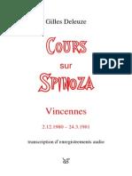 Gilles Deleuze - Cours Sur Spinoza