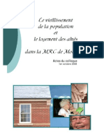 CLSCM - Actes Du Colloque Vieillissement de la population et logement dans Montcalm