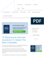 Behavioural Interview Questions to Select the Best Candidate