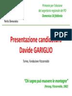 Cambiare verso al PD - presentazione