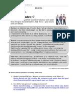Ficha 1 'Why Volunteer' (Soluções)