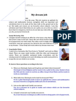 Ficha 2 'My Dream Job' (Soluções)