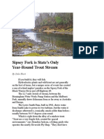Sipsey Fork is State's Only Year-Round Trout Stream