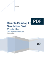 Remote Desktop LoadSimulation Test Controller User Interface Reference
