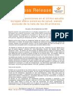 EHCI 2009 Press Release Spain Final