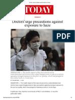 Doctors Urge Precautions Against Exposure to Haze