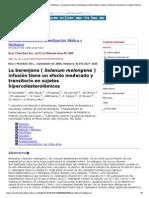 Revista Brasileña de Investigación Médica y Biológica - berenjena (Solanum melongena) infusión tiene un efecto moderado y transitorio en sujetos hipercolesterolémicos