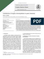 Contribuciones de la electrosíntesis orgánica a la química verde