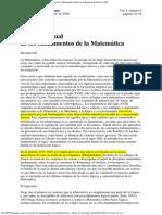 La crisis actual de los fundamentos de la Matemática, Mario O. González