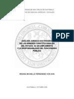 Analisis Juridico y Dosctrinarios de La Constitucion