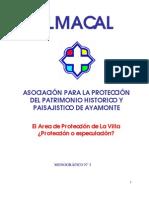 ALMACAL. Area de protección de La Villa. Destrucción del Patrimonio Colectivo de Ayamonte
