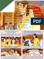 HOJITA EVANGELIO DOMINGO LA PRESENTACIÓN DEL SEÑOR SERIE