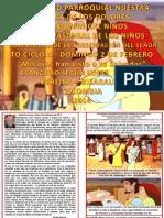 HOJITA EVANGELIO DOMINGO LA PRESENTACIÓN DEL SEÑOR COLOR