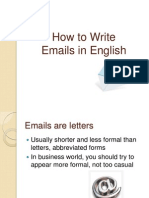 How to Write Emails in English