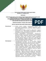 Perbawaslu No. 14 Tahun 2013 Ttg Perubahan Kedua Perbawaslu 15 Th 2012 Ttg Tata Cara Penyelesaian Sengketa Pileg