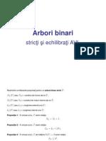 Arbori binari stricti Th Avl