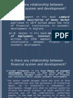 Finance and Economic Development