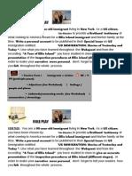 Ellis Island Webquest Writing Task Role Play