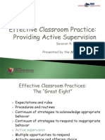Classroom Module 5 Active Supervision