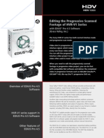 HVR-V1 Editing Tutorial _Edius Pro 4.5