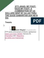 No Subtlety-jihad- My Foot-martial Race-my Foot- A Healthy Combination of Us Dollars Sent by Allah Thru the Good Samaritan Usa Nd b 52s