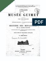 Amelineau-Histoire Des Monasteres