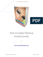 How to Apply Makeup Professionally PDF