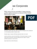 Japanese Corporate Culture