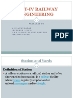 Unit-IV Railway Engineering