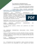Resumo Controle Preventivo de Constitucionalidade No Direito Brasileiro