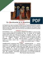 Purificación de la Virgen y Presentación del Señor. Santa  Misa. PDF bilingüe. 2 de febrero