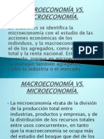 Microeconomía vrs Macroeconomía