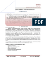 Analysis and Design of Transmission Tower