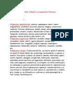 Lista Termenilor Folositi in Comentarii Literare