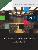 Temporada Conciertos 2013 2014 Fundacion Marcha