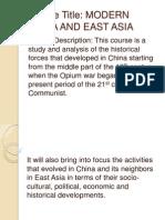 Modern China Powerpoint