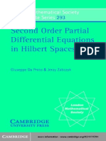 Second Order Partial Differential Equations