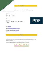 Fracción a decimal