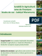 Dezvoltarea Durabilă în Agricultură prin Programe de Finanțare