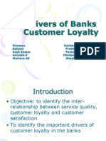 Drivers of Banks Customer Loyalty