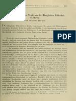 Hoehne-Drei koptisch-saidische Texte aus der Königlichen Bibliothek zu Berlin