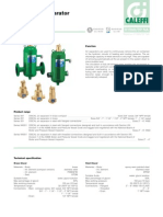 Caleffi Discal Air Separators Brochure